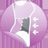 AQUA SPHERE - MALLA MUJER CHLOE AZUL NAVY / VERDE FLUOR. Talle 38 13