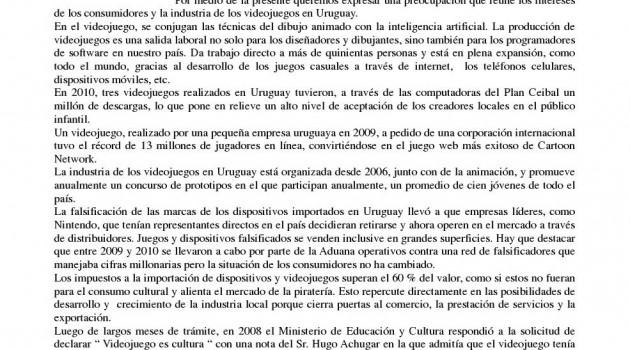 Carta Videojuego Cultura - Mundo Uno